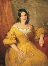 Retrato amarillo Gertru